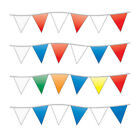 """Triangle Pennants Streamers - 12"""" x 18"""" Triangles - 105' Long Overall"""