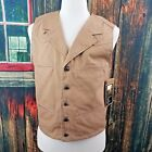 Wyoming Traders Mens Tan Bronco Canvas Vest Size Small, Medium, Large, XL, XLT