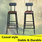 add breakfast bar to counter - Metal Industrial Bar Stool Breakfast Kitchen Bistro Cafe Rustic Counter Chair US