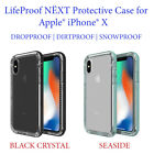 LifeProof NËXT Protective Case for Apple iPhone X - Black Crystal or Seaside -