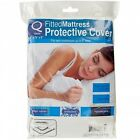 Protective Mattress Cover lightweight, white plastic sheet with elastic fitting image