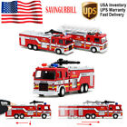 Fire Truck Toys W/ Light Sound Free control Ladder Rescue Car Kids Boys Cool Toy
