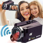 "4K Camcorder Video Camera 3"" TFT LCD 13MP HD Digital Video Recorde16x Zoom Wifi"