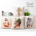Star Wars Cushion Covers Hand Paintings Yoda Darth Vader Splatter  Cushion Cover $4.47 CAD on eBay