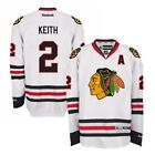 Duncan Keith Reebok Chicago Blackhawks Official Road White Premier Jersey Mens