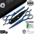 New Professional Sharpy Hairdressing Scissors Shears Blue Salon Barber 6 Inch