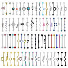 1pc/5pcs Scaffold Industrial Barbell Earring Tribal Arrow Cartilage Piercing 14G