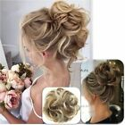 Kyпить As Human Real Natural Curly Messy Bun Hair Piece Scrunchie Hair Extensions US на еВаy.соm