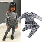 US Toddler Baby Kids Girl Clothes Sweatshirt Tops Pants Outfits Sets Tracksuits