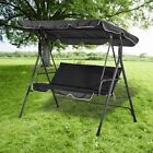 Patio Swing Lounge Chair Seat Metal Garden Hammock Outdoor Bench Seater Canopy