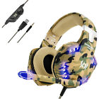 Gaming Headsets Stereo Surround Headphones for PS4 New Xbox One PC with Mic Camo