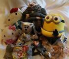 Plush Lot TY Hello Kitty Minion Dispicable Me
