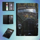 GREEN CLASSIC CAR IN THE FOREST FLIP PASSPORT COVER WALLET ORGANIZER