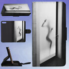FROSTED GLASS BATHROOM DOOR FLIP WALLET CASE FOR APPLE IPHONE PHONES