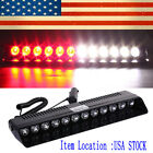 Red White 12 LED Car Emergency Strobe Light Bar Off Road Traffic Tow Truck Lamps