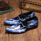 Chic New Mens genuine leather driving shoes slip on patent leather British style