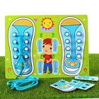 Shoe Tying Teaching Kit Board for Toddlers Learn To Tie Shoelace Educational Toy