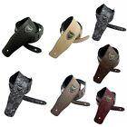 Adjustable PU Leather Guitar Strap Embossed for Acoustic Ele