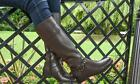 """WOMENS GLUV BROWN LEATHER ZIP UP BOOT """"OSLO"""" RRP £49.99 ELASTICATED GUSSET"""