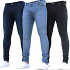 Men's Stretchy Slim Fit Denim Pants Casual Long Solid Trousers Skinny Jeans New
