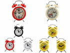 Mini Metal Digital Alarm Clock Mute Twinkling Bell Classical Antique for Bedroom