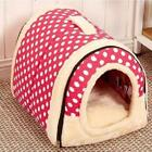Foldable Pet House Nest With Mat Cat Dog Bed Cushion Kennel Travel Bag