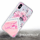 Ultra Slim Patterned Crystal Diamond Rubber Case Cover For iPhone XS Max XR 8 7