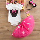 Toddler Kid Girl Minnie Mouse Polka Dot Birthday Gift Tutu Dress Outfit Costume