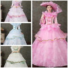 Victorian Dress Women Costume Halloween Party Theater Court Ball Gown Medieval