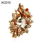 EP_ Women's Vintage Gorgeous Crystal Brooch Pin Wedding Party Scarf Pin Boutonni