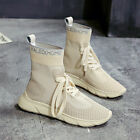 Women's Casual Sock Shoes Sneakers Breathable Outdoor Sports Short Boots Fashion