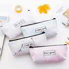 EP_ Student Pencil Case Stationery Bag Letters Design Marble