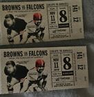 Cleveland Browns vs Atlanta Falcons tickets 11/08/2018 LL Lower Level NFL ALT GA on eBay