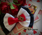 The Red Queen Hair Bow_Alice in Wonderland_Accessory_Handmade_Gift
