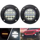 Liteway 4Inch Flush Mount Led Pods with Turn Signal Lamp - 48W Flood Spot