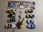 Lego Lot: 8 Racers & Cars w/ Hellicopter 1:55 8125 & 8152