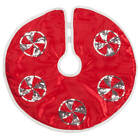 Внешний вид - Red Frosted Candy Tree Skirt by Holiday PeakTM