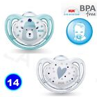 2 PACK NUK Dummy Pacifier teat nipple soother Baby Soothe  0-6m/3-6m/18m freeBPA