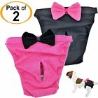 PACK- 2 Dog Diapers Female Cat Girl SMALL and LARGE Pets 100% Cotton Pink Black