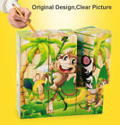 Draw 3D Wooden Puzzle Cartoon Animal Educational Kid Toys Gift for Children