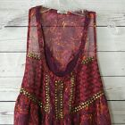 Urban Outfiters Ecote Baby Doll Sleeveless Gold Studded Embellished Top Shirt Lg