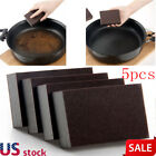 5pcs Kitchen Nano Emery Clean Rub Pot Rust Focal Stains Sponge Removing Tool US