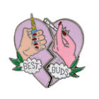 EP_ 2 Piece/Set Women's BEST BUDS Enamel Brooches Pins Badges Jwelry Gift Health