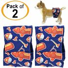 PACK of 2 Dog Diapers Belly Band WASHABLE Male Wrap WATERPROOF For SMALL Pets