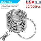 Kyпить 200Pcs Key Rings Chains Split Ring Hoop Metal Loop Steel Accessories 25mm LoT на еВаy.соm