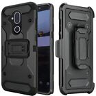 Alcatel 7 Folio Heavy Duty Robust Rugged Holster Clip Case