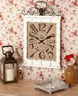 Vintage Decorative Beadboard Scrolled Wall Clocks Distressed