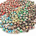 Внешний вид - NEW 30/50PCS Cloisonne Bead Enamel Round Ball Spacer loose Metal Beads 6mm 8mm