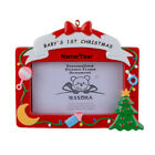 Baby's 1st Christmas Personalized Memorial Picture Frame Christmas Ornament