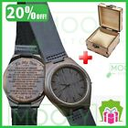 Engraved Wood Watches Men Groomsmen Personalized Wooden Watch Nice Gift for Men